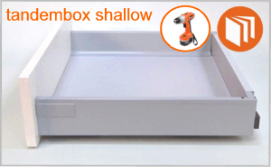 Blum Tandembox shallow drawer box