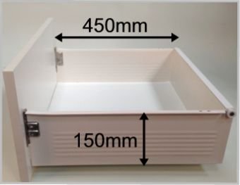 blum metabox replacement drawer box with 150mm high sides
