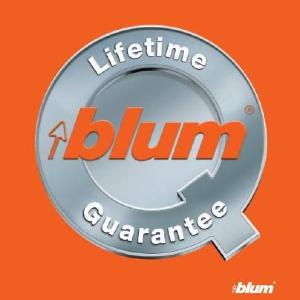 Blum UK lifetime guarantee logo