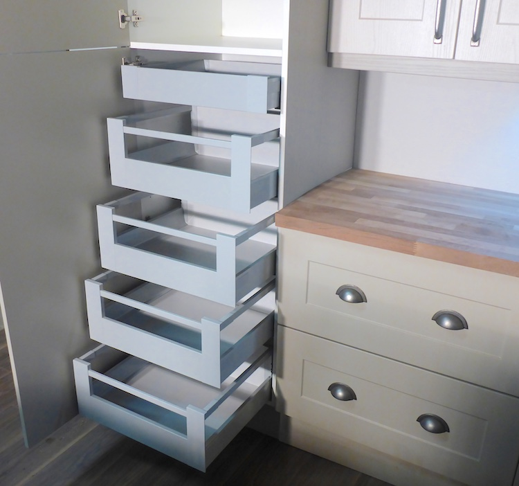 Blum Tandembox Space Tower with 5 internal kitchen drawers