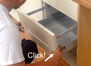 Plastic Front Fitting Plastic Drawer For Kitchen