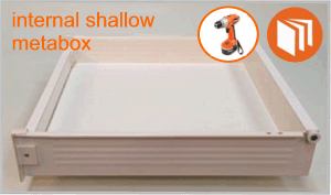 Blum Metabox shallow internal drawer box