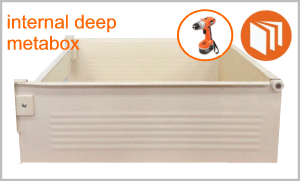 Blum Metabox deep internal drawer box