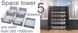 BLUM SPACE TOWER Larder drawer packs