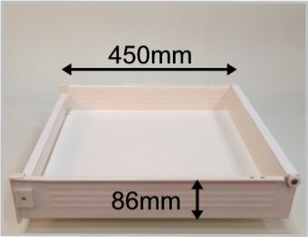 blum metabox internal drawer box with 86mm high sides