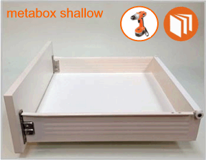 Blum Metabox shallow drawer box